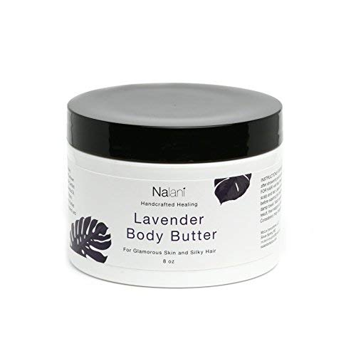 Lavender Shea Body Butter Cream Organic Skin + Hair Care: All-Natural Healthy & Nourishing Anti-Aging Face Moisturizer For Men & Women. Reduces Scar Stretch Mark Wrinkle & Sun Spots. USA Made 8 Ounce