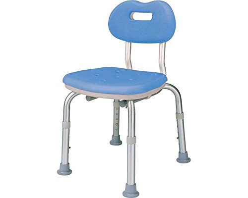 Japan Health and Beauty - Shower Chair [Yukuria] compact stool blue with back *AF27*