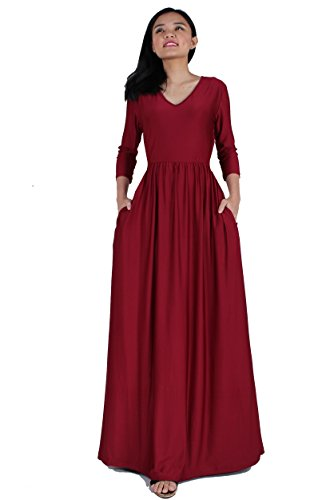 Maxi Dress Plus Size Clothing Wedding Guest Party Cocktail Evening Ball Gown (4X, Burgundy)