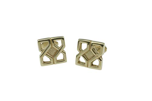 (Pirantin Celtic Design 8th Wedding Anniversary Solid Bronze Cufflinks )