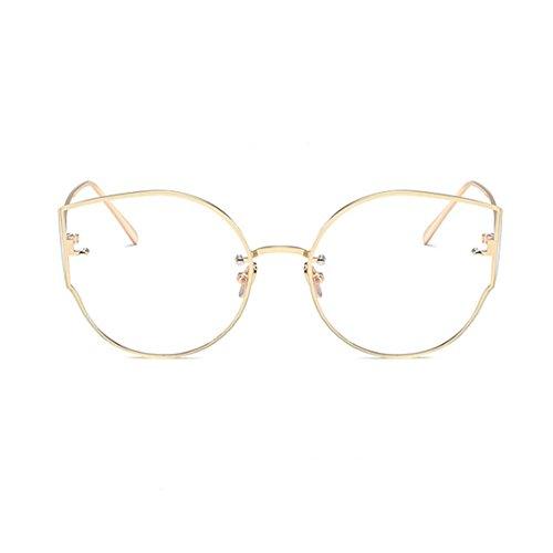sol Ojos de de Xinvision Moda Oro Marco Protection Retro ligero Gafas Metal UV400 gato Mujer Clásico Súper Gafas gECnCqt0w