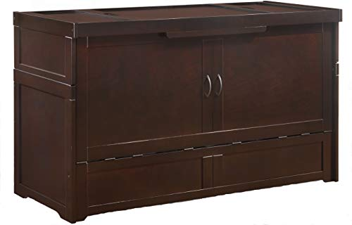 SDS Murphy Cube Queen Cabinet Bed Fully Assembled (Dark Chocolate) (Beds Sale Wood For Queen)