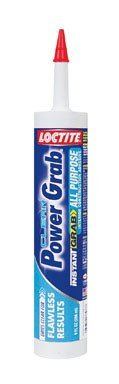 Loctite 1589155 9 Fluid Ounce Cartridge Power Grab Clear All Purpose Construction Adhesive