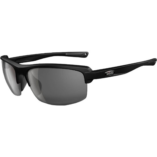 Revo Crux S Nylon Polarized Outdoor Sunglasses - Matte Black/Graphite / One Size Fits - Locations Shades Sunglasses
