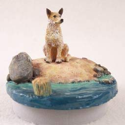 Conversation Concepts Miniature Australian Cattle Red Dog Candle Topper Tiny One ''A Day on the Beach''