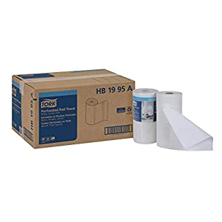 "Tork HB1995A Jumbo Roll Perforated Paper Roll Towel, 2-Ply, 11"" Width x 9"" Length, White (Case of 12 Rolls, 210 Per Roll, 2,520 Towels)"