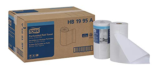 Tork HB1995A Jumbo Roll Perforated Paper Roll Towel, 2-Ply, 11