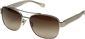 Coach Womens Full Rim Pilot Sunglasses
