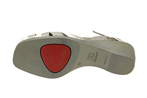 Komfort Damenlederschuh Piesanto 2562 sandale schuhe bequem breit Titanio