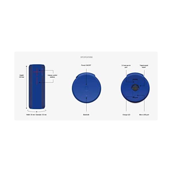 Ultimate Ears Megaboom Enceinte Portable Bluetooth, 360 degrés, étanche, 20 Heures de Batterie, résistant aux Chocs (reconditionné) Anthracite 3