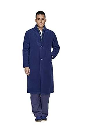 ZanYing Men Wool Coat Thickened Cotton Coat Long Jacket