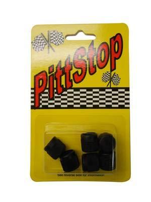 R12 R22 R502 Black 1/4'' Service Port Caps 5 Pack #3503B