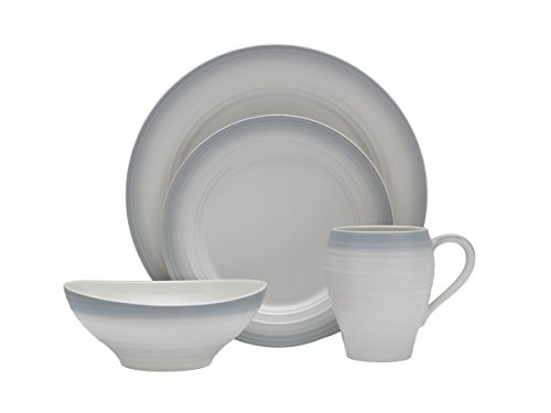 Mikasa Swirl White 20-Piece Dinnerware Set, Service for 4 ()