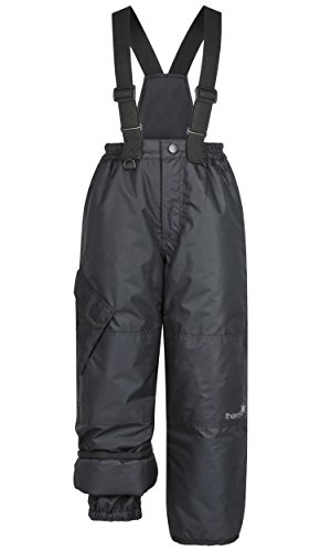 Therm Fully Insulated Convertible Snow Pant  Wind and Waterproof Black 4