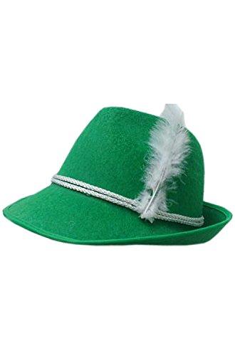 Germany Costume Ideas (HMS Oktoberfest Felt Hat, Green, One Size)