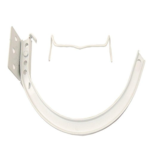 Amerimax Home Products 5 in. Hi-Gloss White Half-Round Aluminum Hangers #10 Combination Circle and Shank with Spring Cli ()