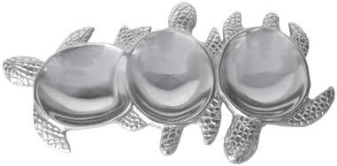 """IHI EST. 1986 Turtle 3-Section Tray 14"""" Silver, Home Décor, Tabletop, Housewares, Parties, Wedding, Gifts and Food Safe"""