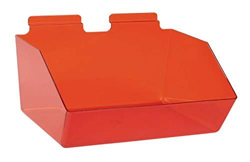 "Buy All Store 6 Slatwall Bins Dump Acrylic Red 12"" x 9 ½"" x 5 ½"" Wire Grid Slat Wall Retail -  buyallstore"