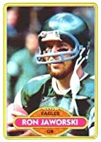 1980 Topps Football Card #72 Ron Jaworski Mint