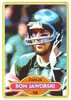 1980 Topps Football Card #72 Ron Jaworski Mint