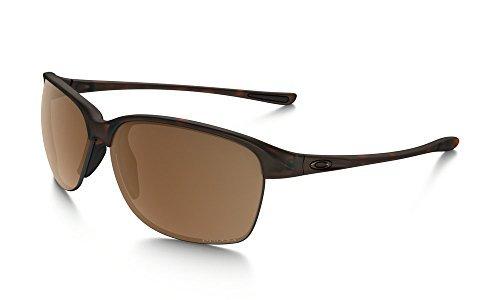Women Sunglasses Oakley (Oakley Women's Unstoppable Polarized Iridium Rectangular Sunglasses, Matte Brown Tortoise, 65 mm)