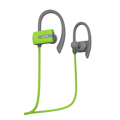 Molife Zoom Sports Wireless Bluetooth Earphones - Green