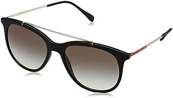 Sunglasses For Men By Prada, Black Lens, 55mm