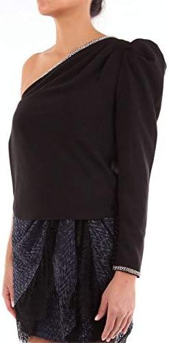 SELF-PORTRAIT Luxury Fashion Donna SP23050TNERO Nero Cotone T-Shirt | Stagione Outlet
