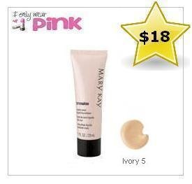 Mary Kay TimeWise Matte-porter Liquid Foundation for Combinaison / Peau grasse (Ivory 5)