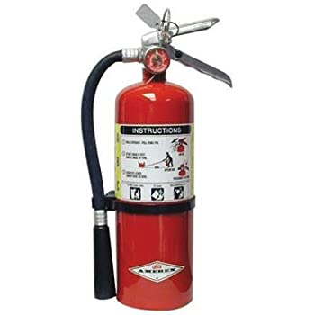AmerexR 5 Pound Stored Pressure ABC Dry Chemical 2A10BC Multi Purpose Fire Extinguisher For Class A B And C Fires With Anodized Aluminum Valve
