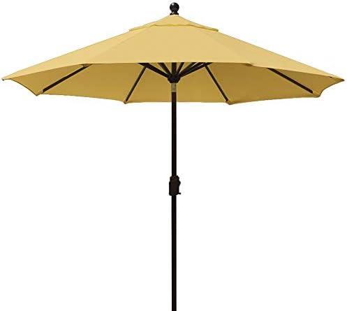 EliteShade 9Ft Market Umbrella Patio Outdoor Table Umbrella with Ventilation Wheat