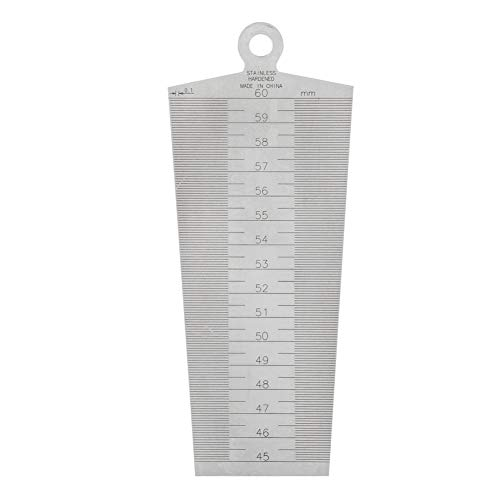 30-45mm Hand Tool Profession Accurate Sophisticated Durable Wedge Feeler Gap Stainless Steel Ruler Inspection Taper Gauge Metric Imperial Measure Tool Convenient Home Improvement