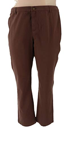 Liz Claiborne NY Jackie Ankle Pants Chocolate 14 New A256799
