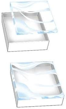100 Boxes of White Ultra Clear View-Top Cotton-Filled Box 5 38 x 3 78 x 1H 888 Display
