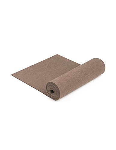 100% Wool Designer Felt by the Foot: 70.9'' x 3 ft x 3mm Thick, Earth Brown by The Felt Store