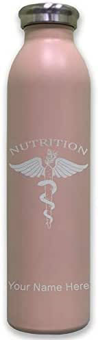 Lasergram Sports Water Bottle, Nutritionist, Personalized Engraving Included (Pink)