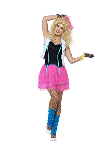 80s Wild Girl Costume with Dress, Cropped Jacket and Headpiece