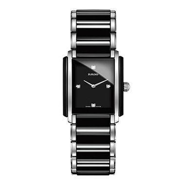 Rado Integral Jubile Two-Tone Black Ceramic And Stainless Steel Womens Watch - R20613712 (Watches Jubile Rado Women)