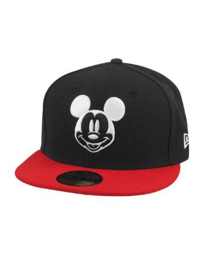 New Era Men's 59Fifty Disney Basic Mickey Cap - Black/Red