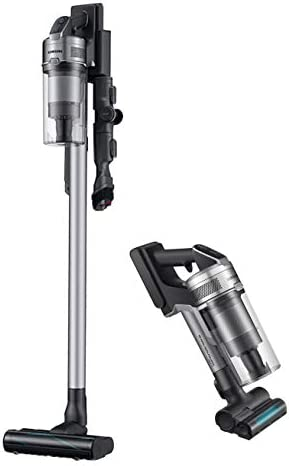 Samsung Jet 75 Complete Stick Lightweight Cleaner with Removable Long Lasting Battery and 200 Air Watt Suction Power-Cordless Vacuum with 180 deg Swivel Brush-(VS20T7536T5), Titan Silver vaccum