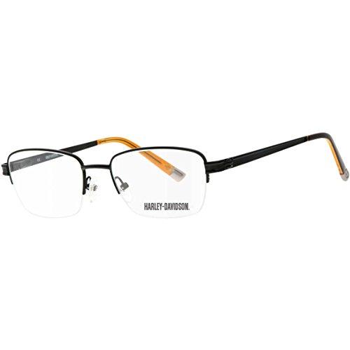 1ed63fca9d Harley Davidson - Montures de lunettes - Homme Noir Matte Black/ Orange taille  unique