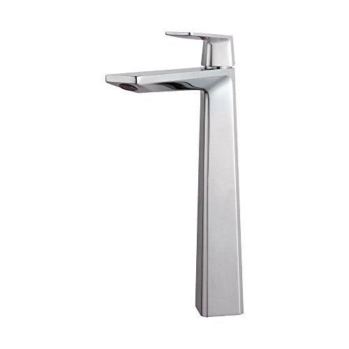 Kraus KEF-15300-Pop Up-10CH Modern Aplos Single Lever Vessel Bathroom Faucet with Matching Pop-up Drain, Chrome (Kraus Aplos Faucet compare prices)