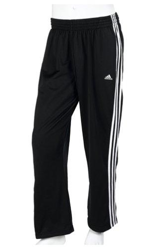 adidas Men's 3-Stripe Tricot Pants, Black/White, XXX-Tall