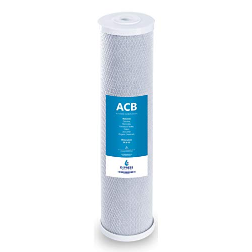"""Express Water – Activated Carbon Block Replacement Filter – ACB Large Capacity Water Filter – Whole House Filtration – 5 Micron – 4.5"""" x 20"""" inch"""