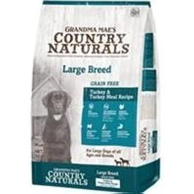 Country Naturals Grandma Mae's Grain Free Large Breed Turkey & Turkey Meal Recipe Dry Dog Food, 14 Pound Bag