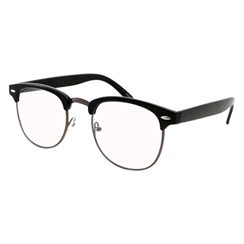 grinderPUNCH - Mens Non Prescription Clear Lens Glasses Gunmetal