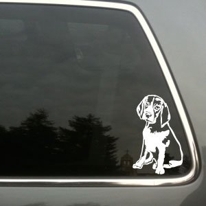 Beagle dog vinyl decal small