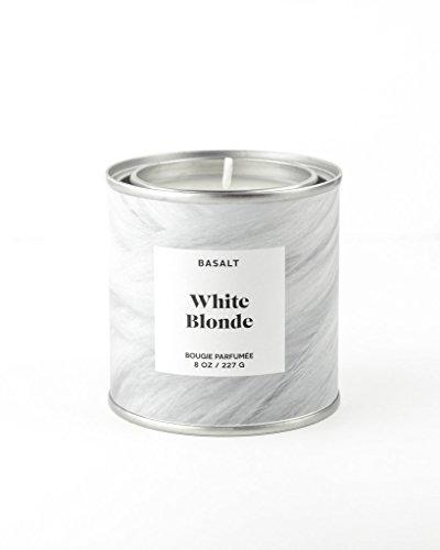 (Basalt Luxury Designer Scented Candle, 8oz, Soy Wax, Bougie Parfumée (White Blonde))