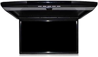17 Pulgadas 1080P Reproductor MP5 para automóvil, Monitor abatible hacia Abajo para automóvil, Monitor LCD, televisor de Techo para Bus, FM + IR + USB + TF + HDMI,Black: Amazon.es: Electrónica