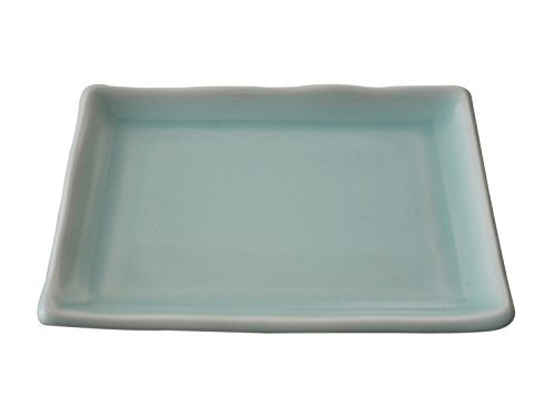 Blue Hakuba arabesque long side 16 cm appetizer dish (47137 - - Arabesque Dish